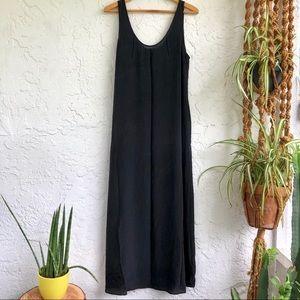 J.Crew long silk black dress size Medium